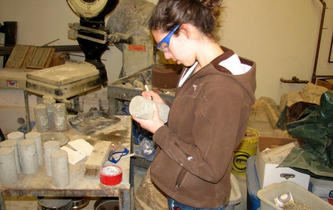 Lauren Kuntz '06 investigated the potential for carbon emission reductions within the cement industry in her UROP.